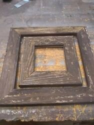 2 Reclaimed Picture Frames 11x11 17.5x17.5 Od 6x6 12.5x12.5 Glass Opening