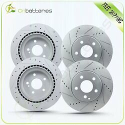 For 2003-2006 Mercedes-benz S500 4 Front + Rear Drill Slot Brake Rotors Disc