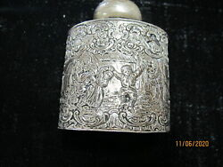 Sterling Silver Flask / Water 18th Century Dutch/ German Rare Antique