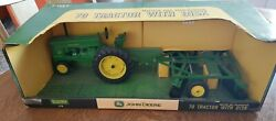 John Deere 70 Tractor With Disk Toy 1/16 Die Cast Metal 15830 New In Box