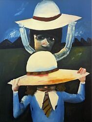 Charles Blackman Two Schoolgirls Large Signed Limited Edition Print 100 X 75cm