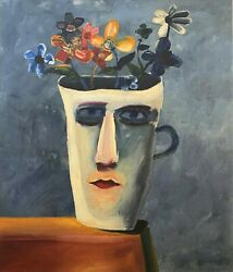 Charles Blackman The Alice Cup Large Signed Limited Edition Print 100cm X 85cm