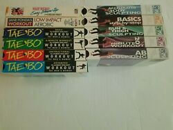 11 Vhs Video Tapes Lot Of Fitness Exercise Winsor Pilates Physical Taebo