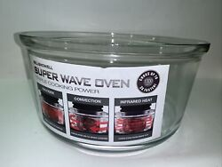 """Bell Howell Super Wave Convection Oven Glass Bowl Replacment Part 13"""" Unused"""