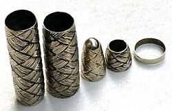 Mont Blanc 149 Customized Fp Overlay W/rope Design In Coin Silver Cm