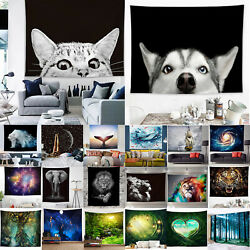Modern Large Tapestry Landscape Animals Print Throw Wall Hanging Blanket Decors