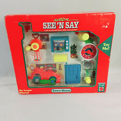 Vintage 1992 Mattel See Andlsquon Say Town House Toddler Activity Toy New Sealed Box
