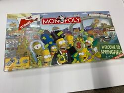 The Simpsons Monopoly Board Game Welcome To Springfield New Sealed Box Mint Low