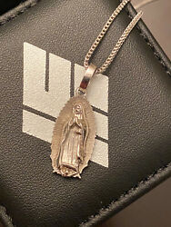 Ifandco Micro Ifandco Our Lady Of Guadalupe Micro Jesus Piece White Gold 14k Chain
