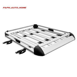 Suv Roof Rack Carrier Basket Rooftop Cargo Carrier With Extension 64x 39x 7.4