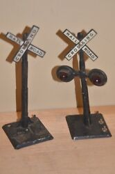 American Flyer Traffic Signal Railroad Crossing Lionel Marx Lighted Vintage Post