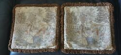 Antique/vintage Tapestry Pillow Cases 16