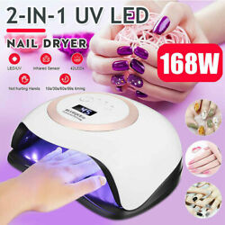 2-in-1 Uv/led 168w Nail Dryer Lamp Electric Polish Gel Curing Light Machine 4518