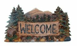 Big Sky Carvers Rustic Country Moose Welcome Sign Brand New Free Shipping