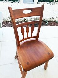 Vintage Solid Wood Maple Chair - Sikes Company Buffalo Ny