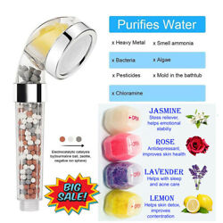 Shower Head Ionic Filter Energy Stone Ball Water Replacementvitamin C W/4filters