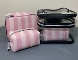 NWT Victorias Secret 4 Piece Weekender Train Case amp; Cosmetic Travel Case $30.76