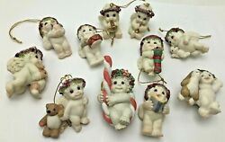 Dreamsicles Angels Hanging Christmas Ornament Lot Bunny Candy Cane Drum Bear