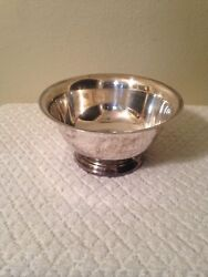 Vintage Wallace Silver Plate Bowl 8in. Wide 4in. High Nice