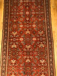 15and0398 X 3and0396ft Runner-rare-ca.1880 Handmade Woven Genuine Antique Rug