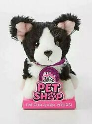 Justice Pet Shop Ally the Border Collie Plush Toy With Leash and Collar GUND NWT
