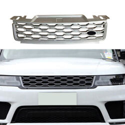 Front Bumper Center Hood Grill Mesh For Range Rover Sport 2018-2019 Silver Abs