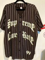 Supreme Love Hate Baseball Jersey Fw19 Color Black Size Extra Large Nearly New