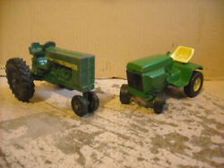Lot Of 2 Ertl Green Tractors Farm And Lawn Used Parts Restoration Free Shipping