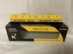 ✅k-line By Lionel Milwaukee Road Steel Coil Car Mill O Scale Train
