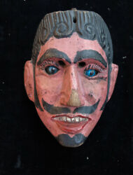 Vintage Hand Carved Judas Dance Mask From Siquinala, Guatemala