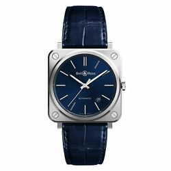 Bell And Ross Blue Steel 39mm Automatic New And Authentic Brs92-blu-st/scr