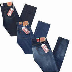 501 Jeans Mens Big E Vintage Shrink To Fit Selvage Design Button Zip Fly