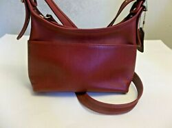 Coach Leather Crossbody Red Bag G P 9136 Legacy Purse $34.99