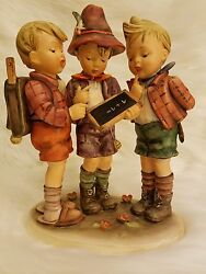 School Boys Goebel Hummel Figurine 170/iii Tmk3ss Large Collectible