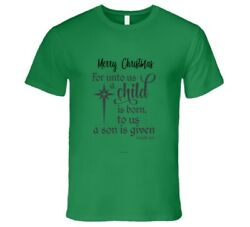 For Unto Us A Child Is Born Isaiah 96 Premium Gift Christmas T Shirt