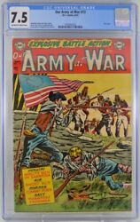 Our Army At War 13 Cgc 7.5 Flag Cover 1953
