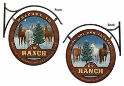 Welcome To The Ranch Hanging Tin Signs By Persis Clayton Weirs