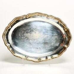 Vintage And Co. Makers Silverplate 422 Oval Serving Tray 18l