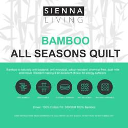 Sienna Living All Seasons 100 Bamboo Cotton Cover Quilt Duvet Doona All Sizes