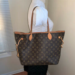 Louis Vuitton Neverfull Monogram Coated Canvas MM Tote Bag NO Pouch $499.00
