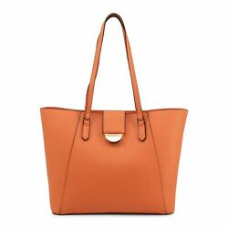 Mario Valentino FALCOR Totes Women#x27;s Orange Shopping Bag Zip $127.90