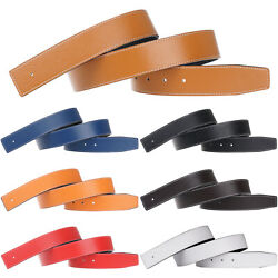 32mm/38mm Replacement Belt Strap Reversible Genuine Leather Belt No Buckle
