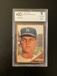 1962 Topps Don Drysdale 340 Bccg 9