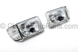 Euro Headlight Set For Us Mercedes R107 / C107 Lhd Clear Indicator Conversion