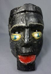 Vintage Antique Hand Carved Raton Dance Mask From Rabinal, Guatemala