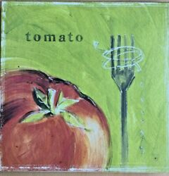 Kitchen cafe art canvas print #x27;Tomato#x27; 12 x 12quot; wall hanging