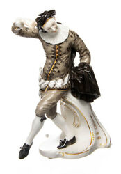 Figure Scaramuz Nymphenburg From A.bustelli Italian Comedy 1. Wahl 240 7 7/8in