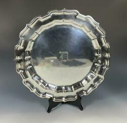 Frank W. Smith 13 3/4 Round Sterling Silver Chippendale Serving Tray