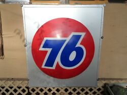 Vintage Union 76 Oil Company Sign 45 X 51 In Good Shape