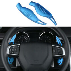 Steering Wheel Shift Paddles Trim 2pc Fit For Land Rover 2010-2020 Blue Aluminum